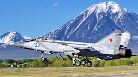 Un caza MiG-31 en la península rusa de Kamchatka