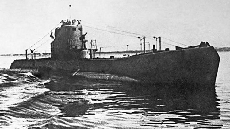 Un submarino de tipo Shchuka durante la Segunda Guerra Mundial.