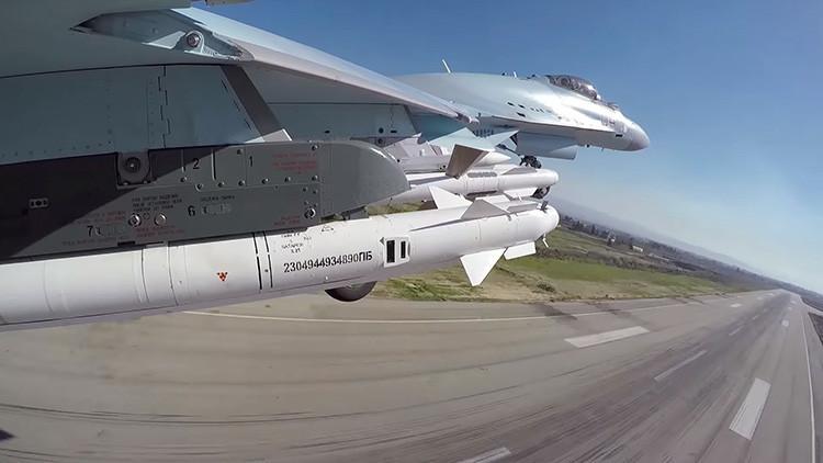 Videos: Espectaculares imágenes de la aviación rusa desplegada en Siria, a vista de pájaro