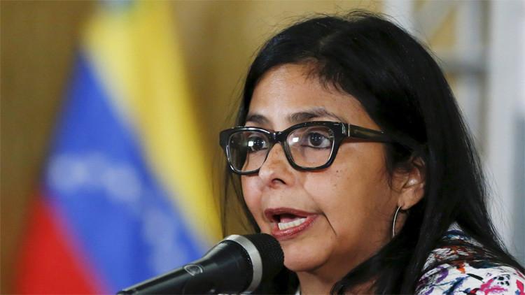 """Delcy Rodríguez: Los medios de comunicación hacen """"bullying"""" contra Venezuela"""