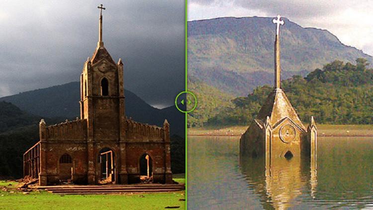 El antes y el después de un pueblo que 'resucitó' después de pasar 30 años bajo el agua