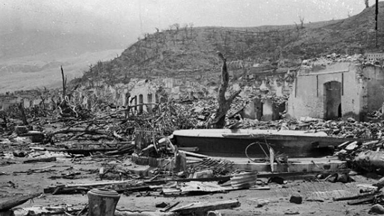 Desolador paisaje tras la erupción del volcán más devastador del siglo XX.