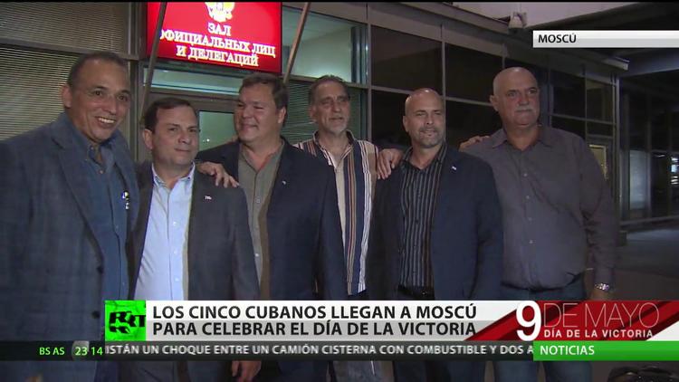 'Los Cinco' cubanos llegan a Moscú para celebrar el Día de la Victoria