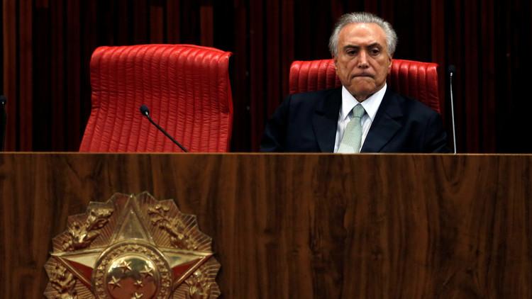 El presidente interino de Brasil no tiene intención de ser candidato a la presidencia
