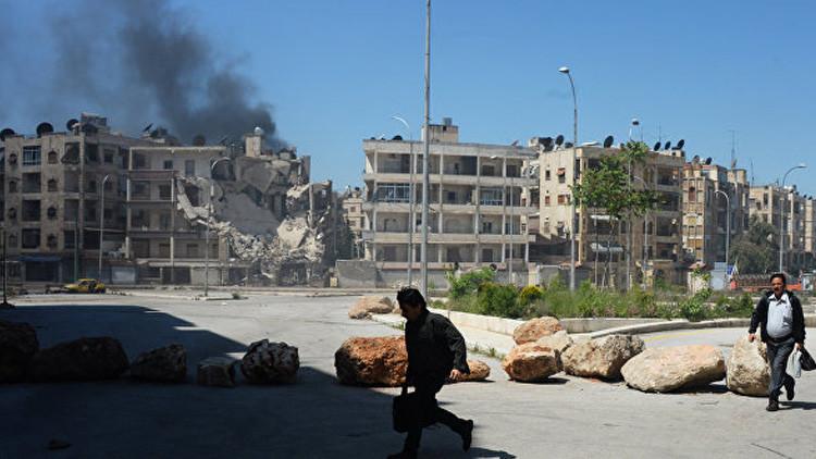 Atacan con armas químicas un barrio de Alepo