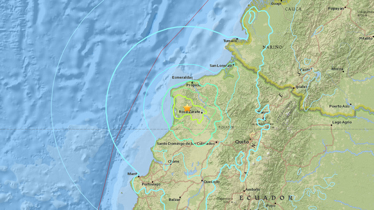 Un sismo de magnitud 6,7 sacude Ecuador