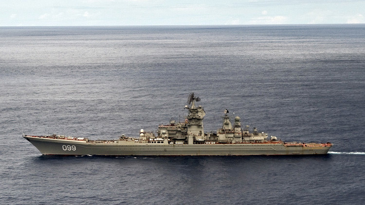 El crucero ruso más poderoso del mundo se ejercita en el mar de Barents