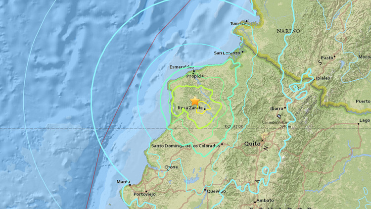 Un segundo fuerte terremoto en un día de magnitud 6,8 sacude Ecuador