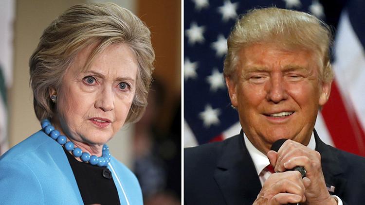 Malas noticias para Hillary Clinton: Donald Trump la supera en las encuestas en tres puntos