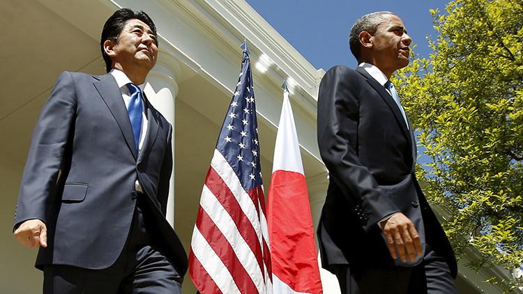 El presidente de EE.UU. Barack Obama y el primer ministro de Japón Shinzo Abe