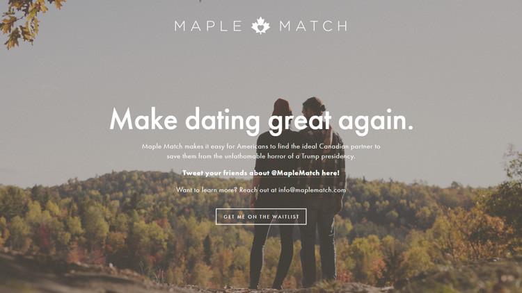 """Maple Match: La web para los estadounidenses que quieran huir del """"horror"""" de Trump"""