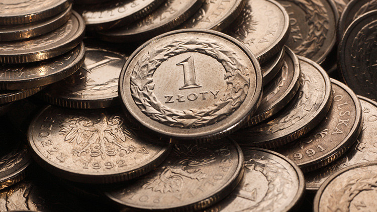 Varias monedas de zloty