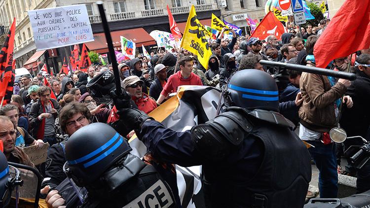 Violentos enfrentamientos entre manifestantes y la Policía en París