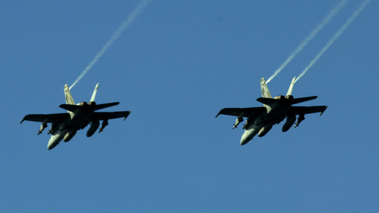 Dos aviones F18 estadounidenses se estrellan cerca de la costa en Carolina del Norte