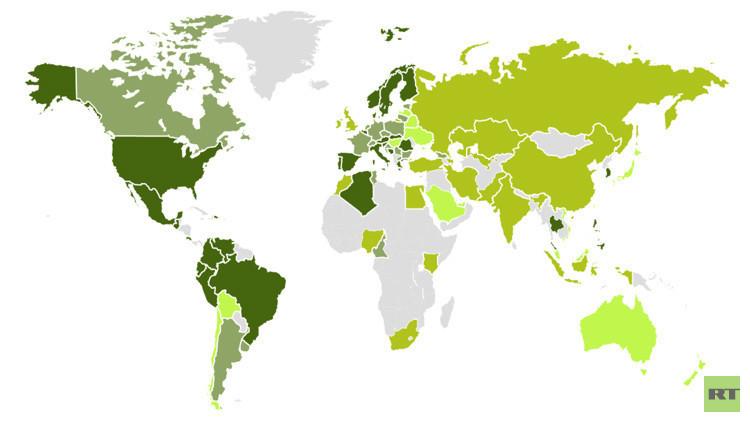 ¿Café o té? Una mapamundi ilustra las preferencias de cada país