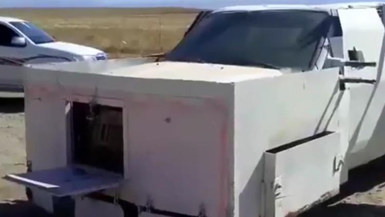 Incautan mortífero coche tipo 'Mad Max' del Estado Islámico antes de ser detonado (video)