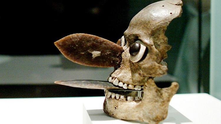 Revelan el origen de las tenebrosas máscaras aztecas hechas de cráneos humanos