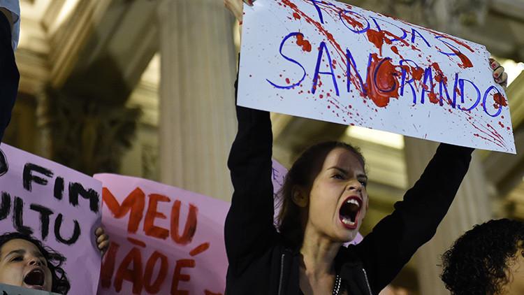 Protestas en Río de Janeiro en apoyo a la menor violada