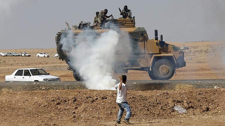 Video: Espectacular voladura de un camión blindado turco