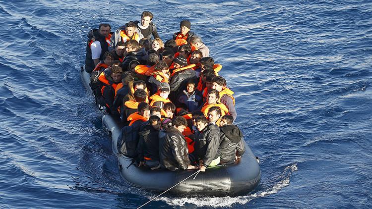 Activistas publican una foto simbólica de la tragedia que sigue produciéndose en el Mediterráneo