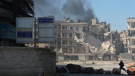 Extremistas bombardean uno de los barrios de la ciudad de Alepo, Siria. 14 de abril de 2016. Foto ilustrativa.