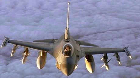 El caza estadounidense F-16 Fighting Falcon
