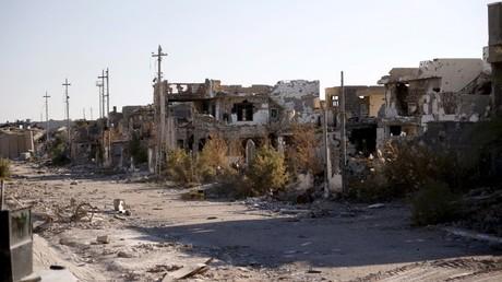 Ruinas de la ciudad de Ramadi, Siria.