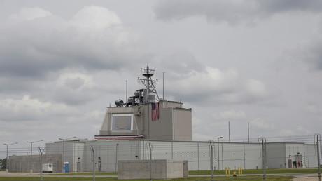 Centro de mando de la nueva instalación del sistema de defensa de misiles balísticos en la base aérea de Deveselu, Rumanía, 12 de mayo de 2016.