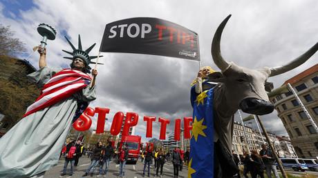 Protestas en Alemania contra el TTIP