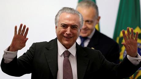 Michel Temer, el presidente interino de Brasil