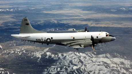Avión Lockheed EP-3 Aries de reconocimiento aéreo.