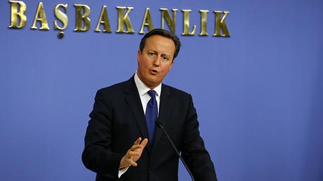 El primer ministro del Reino Unido David Cameron en Ankara, el 9 de diciembre de 2014.