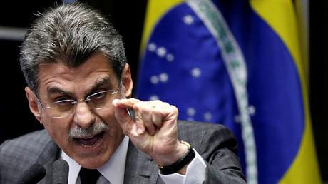 El ministro de Planificación de Brasil y senador del Partido del Movimiento Democrático de Brasil Romero Jucá