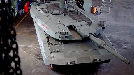 Prototipo-demostrador del futurista tanque del proeycto MBT Revolution