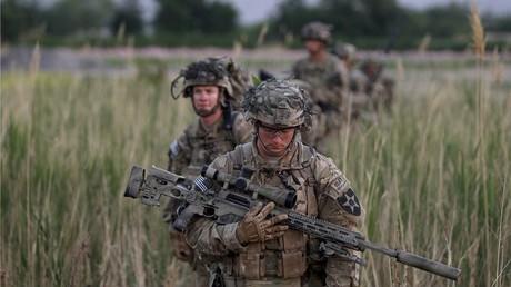 Soldados estadounidenses en el distrito de Zharay de la provincia de Kandahar, sur de Afganistán, 2012