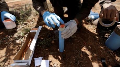 Preparan las sub-municiones de racimo para una detonación controlada