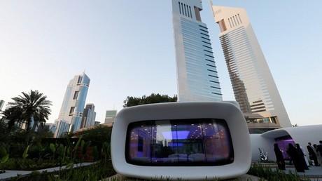 Una oficina futurística construida en Dubái por una impresora 3D