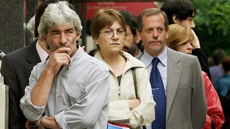 Ambiente del corralito en Argentina