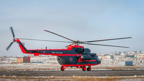 Pruebas de un helicóptero Mi-8AMTSh-VA en la planta de Ulán-Udé (Buriatia, Rusia)