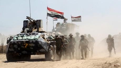 Un ataque del Ejército de Irak cerca de la aldea de Al Sejar