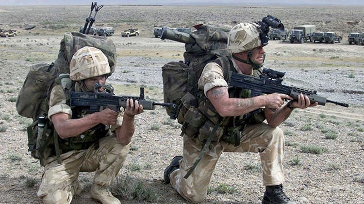 Miembros del regimiento de elite del Servicio Aéreo Especial británico
