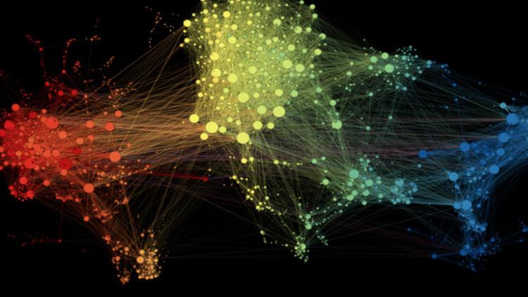 El fascinante mapa que muestra las conexiones del tráfico aéreo en todo el mundo