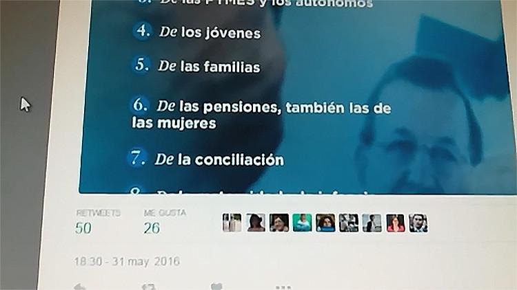"""España: """"Estamos a favor de las pensiones, también las de las mujeres"""", el tuit del Partido Popular"""