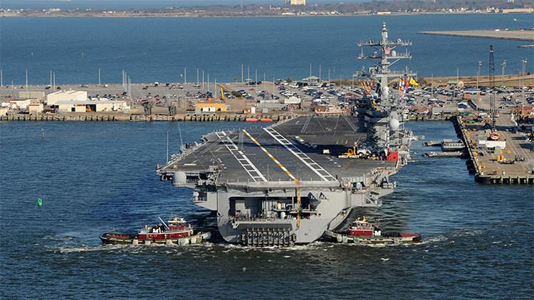 Estados Unidos envía un portaviones a Oriente Medio para luchar contra el Estado Islámico