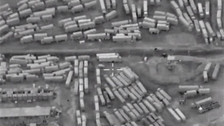 Video: Un dron ruso capta la entrada masiva de terroristas a Siria desde Turquía