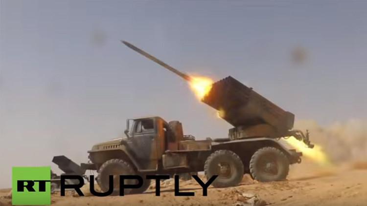 Filman con un dron el avance del Ejército sirio en la provincia de Raqa, ocupada por yihadistas