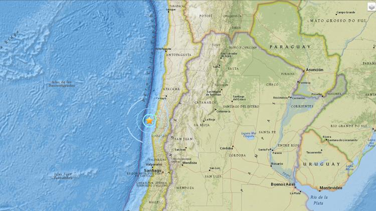 Un terremoto de magnitud 5,7 sacude la costa de Chile