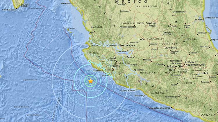 Un terremoto de magnitud 6,2 sacude la costa occidental de México