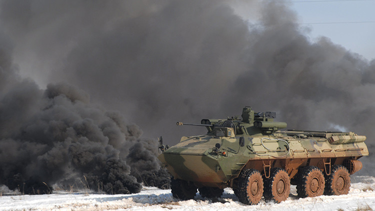 Rusia desarrolla un silencioso vehículo blindado sobre ruedas