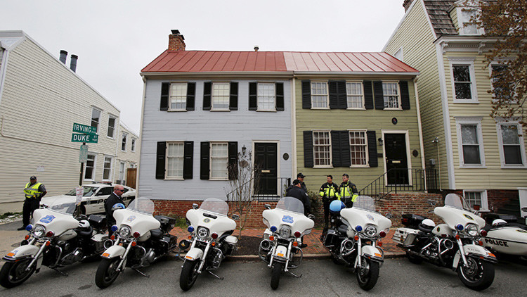 El despliegue policial en la ciudad de Alexandria (EE.UU.)